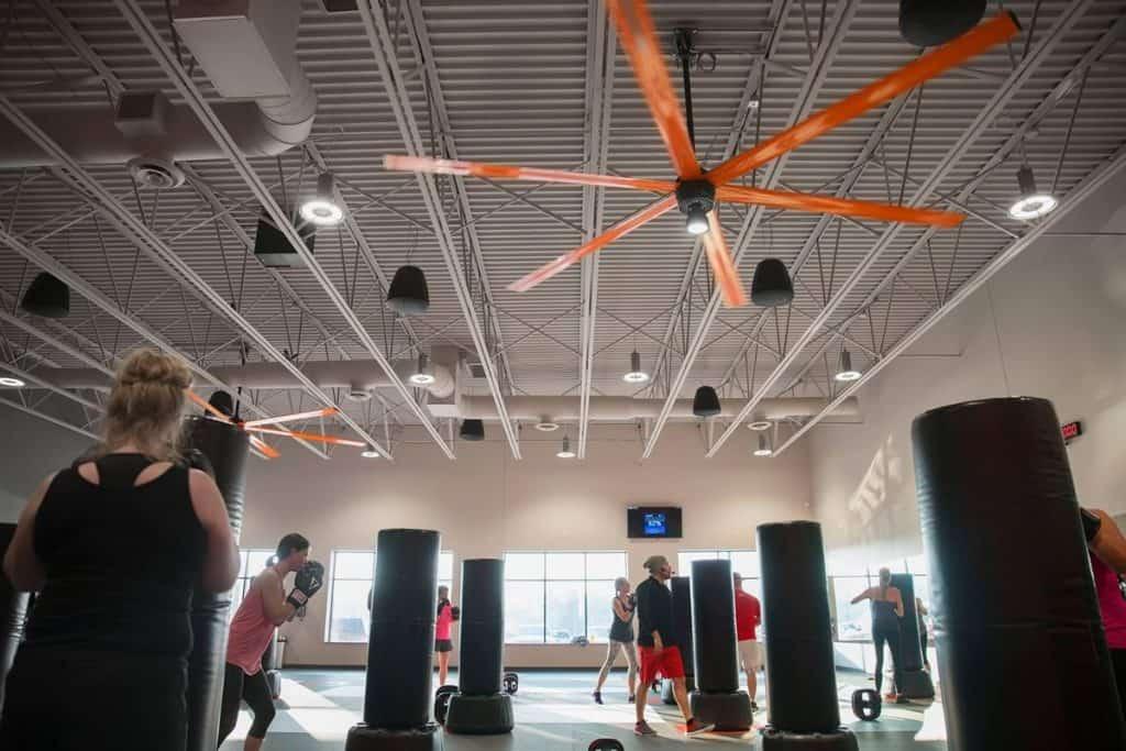 hvls fan cooling off gym